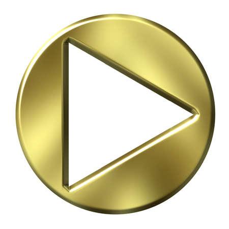 boton flecha: 3D bot�n de la flecha de oro