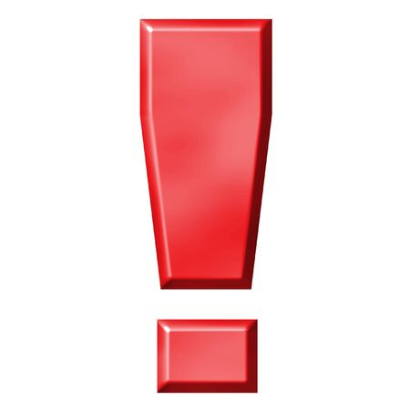 emphasize: 3D red exclamation mark