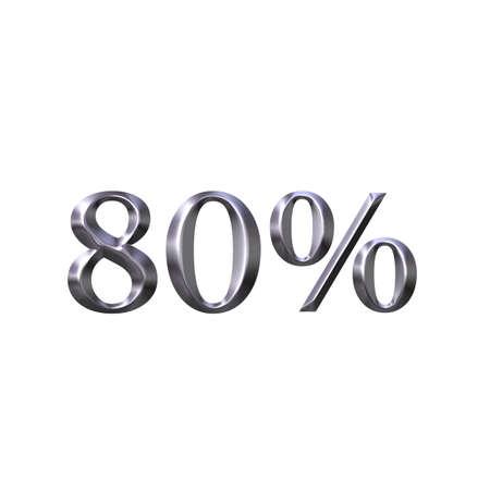 3D Silver 80 Percent photo