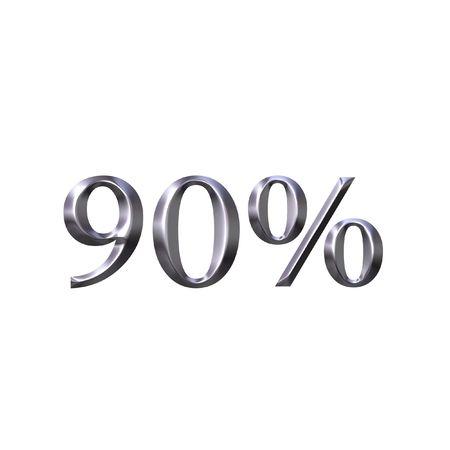 90: 3D Silver 90 Percent