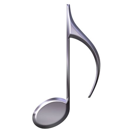 music theory: 3D Silver Eighth Note