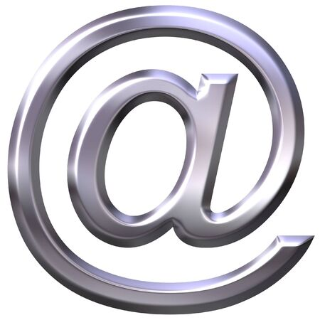 3D silver email symbol photo