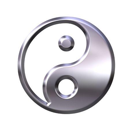 tao: 3D Silver Tao Symbol