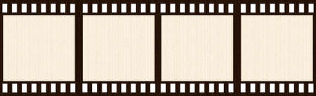 holed: Aged Film Strip Stock Photo