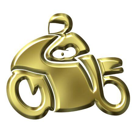 throttle: Golden Motorbike