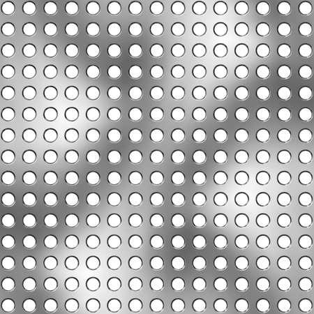 Metallic holed surface photo