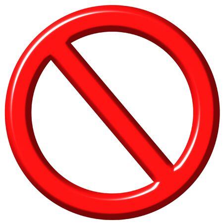 3D Forbidden Sign Stock Photo - 1422623