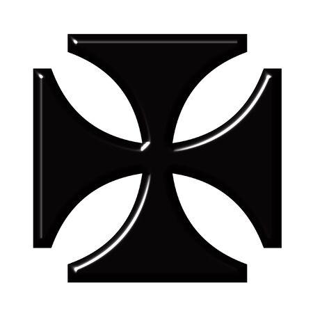 bevel: 3D German Cross Stock Photo
