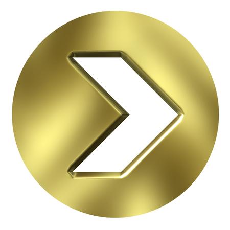 boton flecha: 3D Golden bot�n de flecha