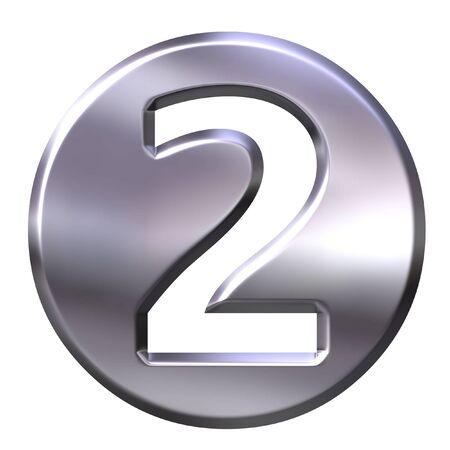 framed: 3D Silver Framed Number 2