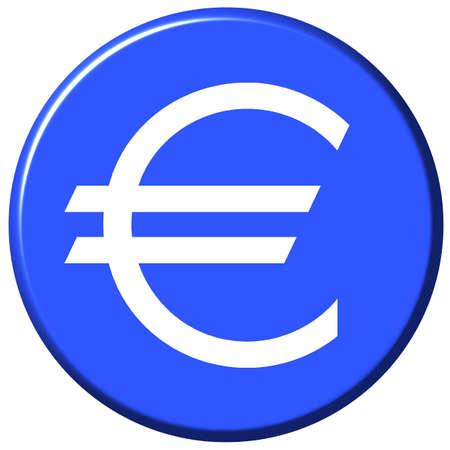bevel: Euro Button Stock Photo