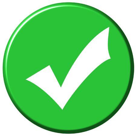OK Button Stock Photo
