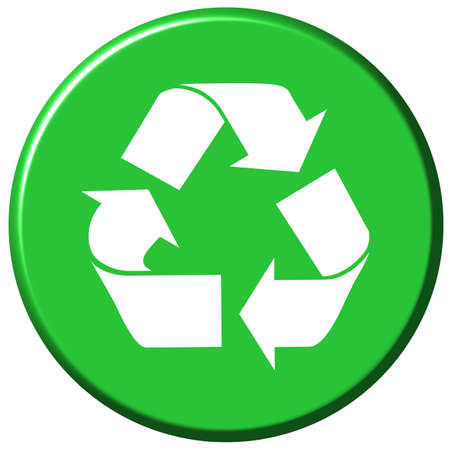 environmental awareness: Recycle Button