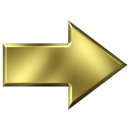 flecha derecha: Flecha De oro 3D