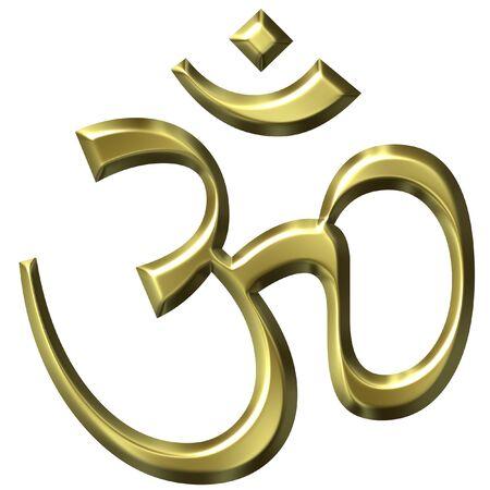 3D Golden Hinduism Symbol Stock Photo - 1546267