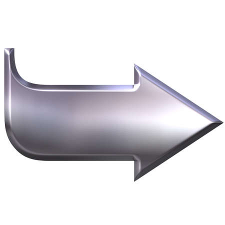 indicate: 3D Silver Arrow