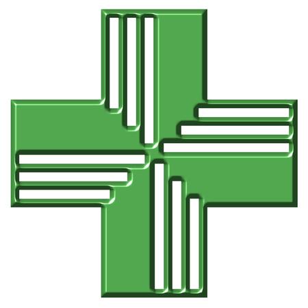 shinning: Pharmacy Cross Stock Photo