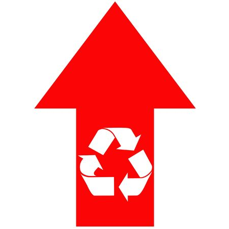 indicate: Recycling Arrow Stock Photo