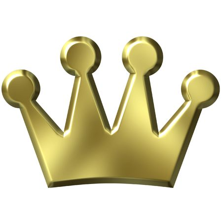 king crown: 3D Golden Crown