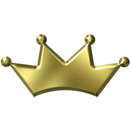 3D Golden Crown photo