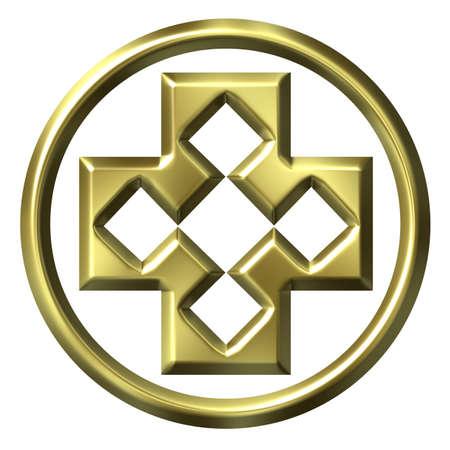 framed: 3D Golden Framed Cross