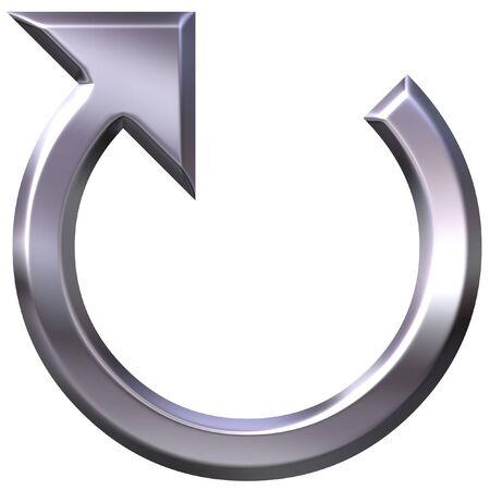 flecha derecha: 3D circular flecha de plata