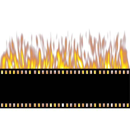 negativity: Burning Film Strip