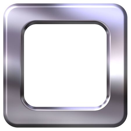 silver picture frame: 3D Silver Frame