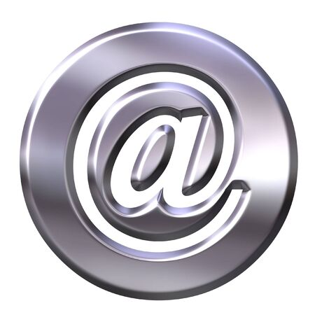 respond: 3D Silver Framed Email Symbol Stock Photo