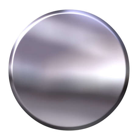3D Silver Button photo