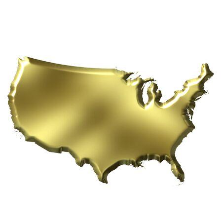 nations: USA 3D Golden Map