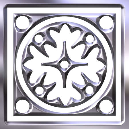 ag: 3D Silver Ornament  Stock Photo