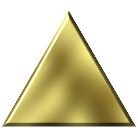 triangle shape: 3D Golden Triangle Stock Photo
