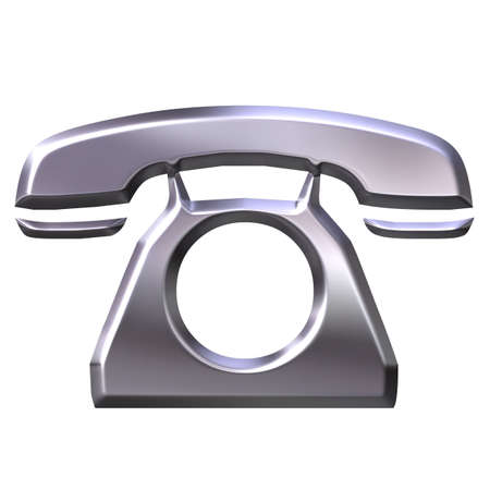 shinning: 3D Silver Telephone