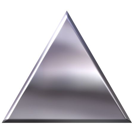 shinning: 3D Silver Triangle Stock Photo