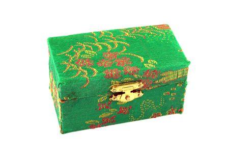 stash: Gift box isolated in white Stock Photo