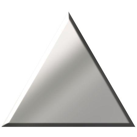 shinning: 3d steel triangle  Stock Photo