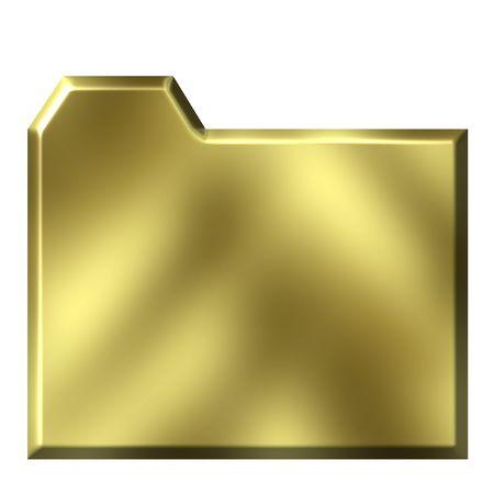 shinning: 3d golden folder