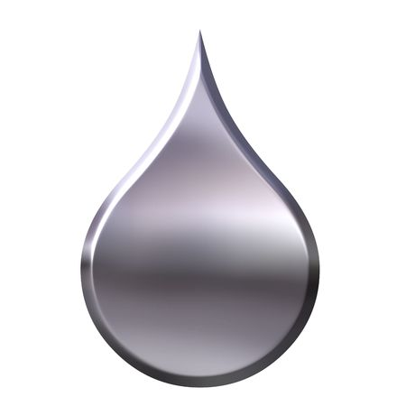 liquid metal: 3d goccia di metallo liquido  Archivio Fotografico