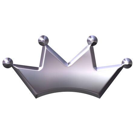 royal person: 3d silver crown