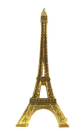minature: Eiffel tower minature isolated in white