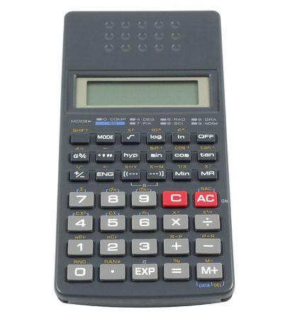algebra calculator: Scientific calculator isolated in white