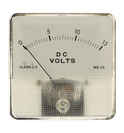 voltmeter: Voltmeter isolated in white