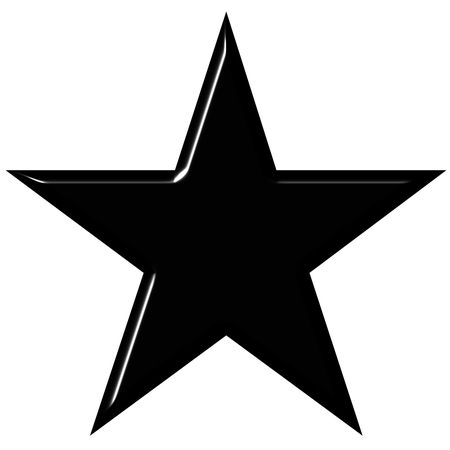 moody: 3d black star isolated in white