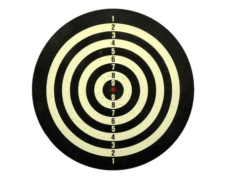 Dart board isolated in white photo