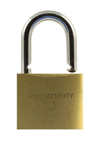 Open padlock isolated in white Stock Photo - 3011638