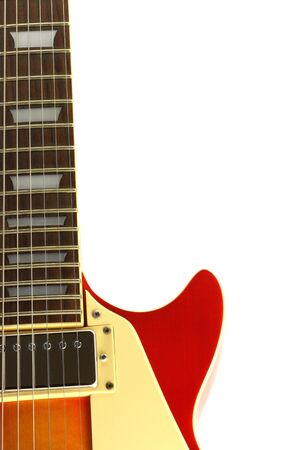 hardrock: Electric guitar isolated in white