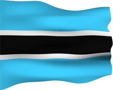 botswana: 3d flag of Botswana  Stock Photo