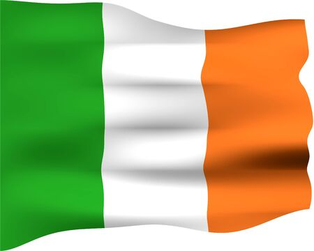 irish pride: 3d flag of Ireland
