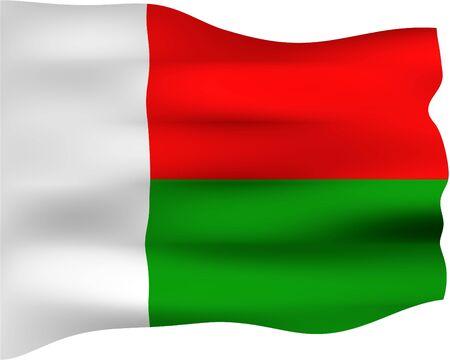 madagascar: 3d flag of Madagascar
